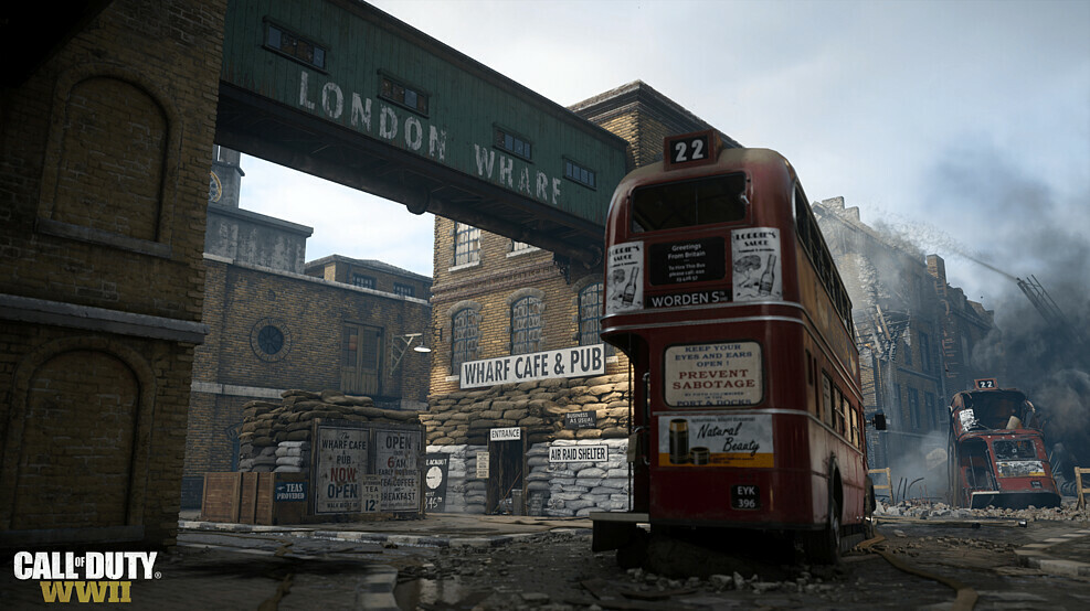 London-Map in Call of Duty: WWII on