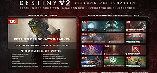 Roadmap zu Destiny 2