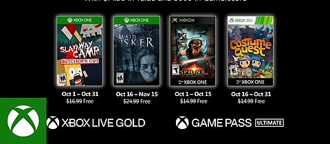 Games with Gold im Oktober 2020